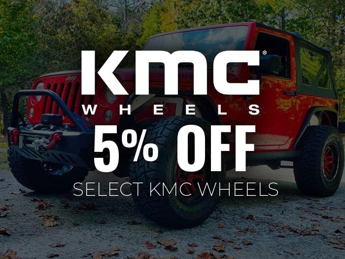 5% Off KMC Wheels