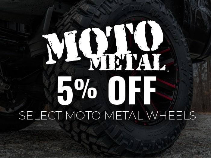5% Off Moto Metal Wheels