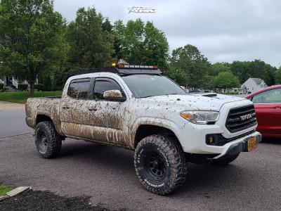 """2017 Toyota Tacoma - 16x8 -6mm - Black Rock D Widow - Suspension Lift 3"""" - 33"""" x 12.5"""""""