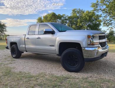 "2017 Chevrolet Silverado 1500 - 17x8.5 0mm - Method Mr701 - Suspension Lift 2.5"" - 33"" x 12.5"""