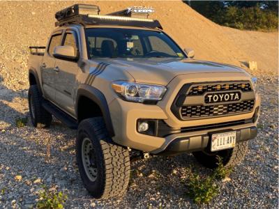 """2018 Toyota Tacoma - 17x9.5 18mm - Black Rhino Armory - Suspension Lift 6"""" - 315/70R17"""
