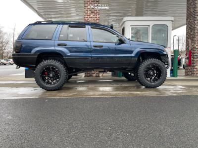 "2001 Jeep Grand Cherokee - 18x12 -44mm - Fuel Hostage - Suspension Lift 4.5"" - 33"" x 12.5"""