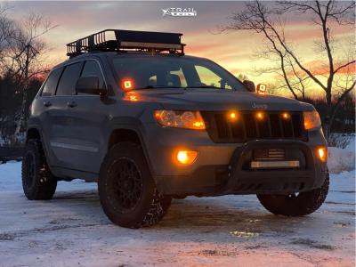 "2012 Jeep Grand Cherokee - 18x9 -12mm - Vision Rocker - Suspension Lift 2.5"" - 265/60R18"