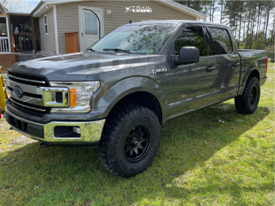 "2019 Ford F-150 - 18x9 0mm - Dirty Life Roadkill - Leveling Kit - 35"" x 12.5"""