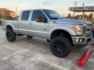 """2015 Ford F-250 Super Duty - 20x10 -24mm - Wicked Offroad W903 - Suspension Lift 4"""" - 37"""" x 13.5"""""""