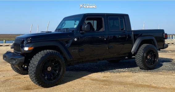 "2021 Jeep Gladiator - 20x12 -44mm - Anthem Off-Road Liberty - Stock Suspension - 35"" x 12.5"""
