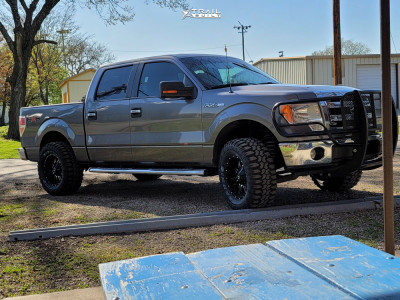 2014 Ford F-150 - 18x9 -12mm - TIS 535mb - Leveling Kit - 325/60R18