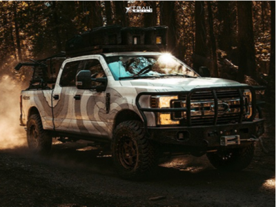 "2019 Ford F-250 - 20x9 0mm - Fifteen52 Offroad Turbomac Hd - Suspension Lift 3"" - 37"" x 12.5"""