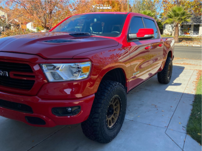 "2019 Ram 1500 - 18x9 18mm - Method Nv - Suspension Lift 3.5"" - 35"" x 12.5"""