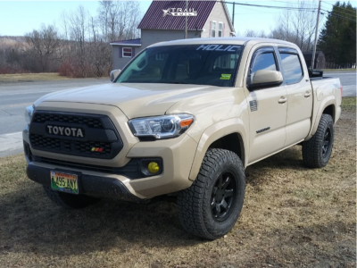 "2017 Toyota Tacoma - 17x8.5 -12mm - Level 8 Slam - Stock Suspension - 32"" x 10.5"""