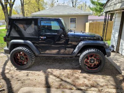"2016 Jeep Wrangler JK - 20x10 -24mm - Monster Offroad M07 - Stock Suspension - 33"" x 12.5"""