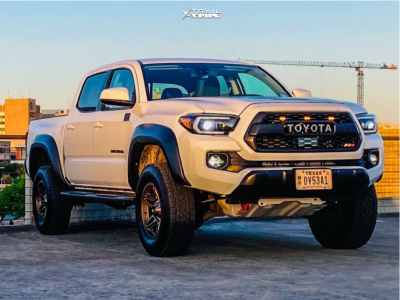 """2020 Toyota Tacoma - 17x8.5 -10mm - American Outlaw Lonestar - Leveling Kit - 32"""" x 10.5"""""""