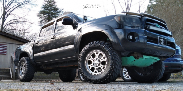 "2007 Toyota Tacoma - 17x9 -12mm - Vision Utech - Suspension Lift 3.5"" - 295/70R17"