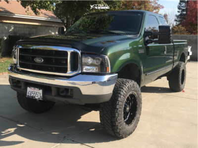 "1999 Ford F-250 Super Duty - 18x10 -24mm - Moto Metal Mo962 - Leveling Kit - 35"" x 12.5"""