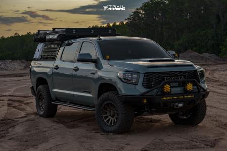 "2021 Toyota Tundra - 18x9 25mm - Icon Alloys Compression - Leveling Kit - 35"" x 12.5"""