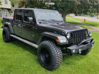 """2021 Jeep Gladiator - 20x12 -44mm - Vision Tactical - Leveling Kit - 35"""" x 12.5"""""""
