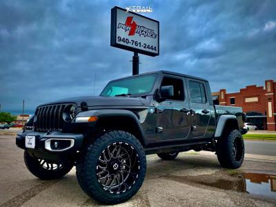 "2021 Jeep Gladiator - 22x12 -44mm - Tis 544bm - Suspension Lift 2.5"" - 35"" x 12.5"""