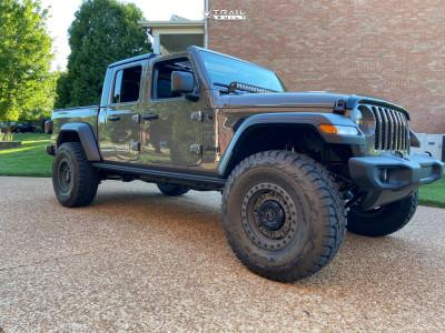 "2020 Jeep Gladiator - 17x9.5 -18mm - Black Rhino Abrams - Suspension Lift 3.5"" - 37"" x 12.5"""