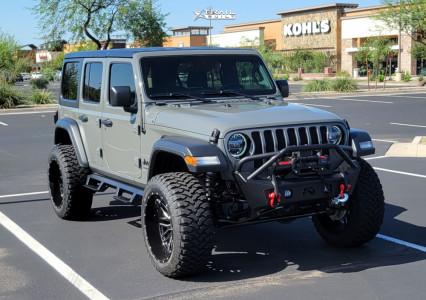 "2020 Jeep Wrangler - 22x12 -44mm - Hardcore Offroad Hc19 - Suspension Lift 2.5"" - 35"" x 12.5"""