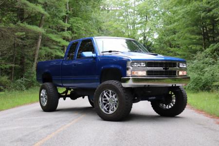 """1996 Chevrolet K1500 - 20x12 -44mm - Hostile Vulcan - Suspension Lift 6"""" & Body 3"""" - 37"""" x 12.5"""""""