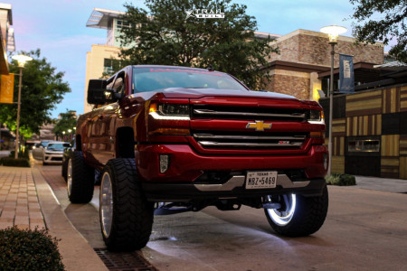 "2018 Chevrolet Silverado 1500 - 24x14 -76mm - Xtreme Forged 012 - Suspension Lift 12"" - 37"" x 13.5"""