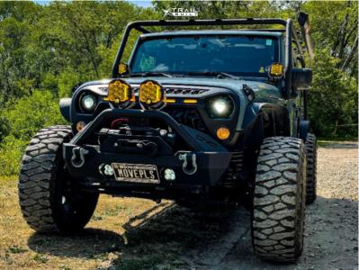 """2014 Jeep Wrangler JK - 20x9 -12mm - RBP 73r - Suspension Lift 2.5"""" - 35"""" x 12.5"""""""