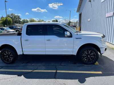 """2018 Ford F-150 - 20x9 0mm - Hardrock Spine Xposed - Stock Suspension - 31"""" x 10.5"""""""