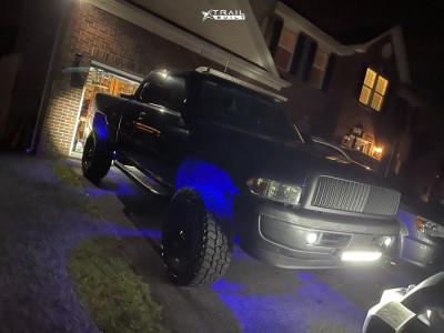 """2001 Dodge Ram 1500 - 17x9.5 0mm - XD Rockstar - Suspension Lift 4"""" - 35"""" x 12.5"""""""