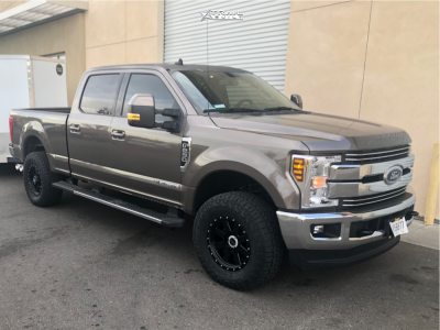 """2019 Ford F-250 Super Duty - 18x9 0mm - Alloy Ion Style 134 - Stock Suspension - 35"""" x 12.5"""""""
