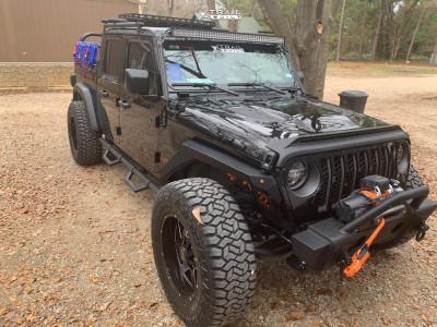 "2020 Jeep Gladiator - 20x12 -44mm - Insane Offroad 10-12 - Stock Suspension - 37"" x 13.5"""