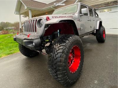 "2020 Jeep Gladiator - 20x12 -44mm - TIS 544rm - Suspension Lift 6.5"" - 40"" x 15.5"""
