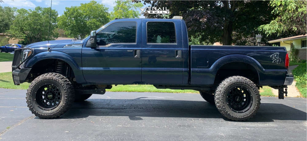 1 2014 F 250 Super Duty Ford Rough Country Suspension Lift 6in Vision Rocker Black