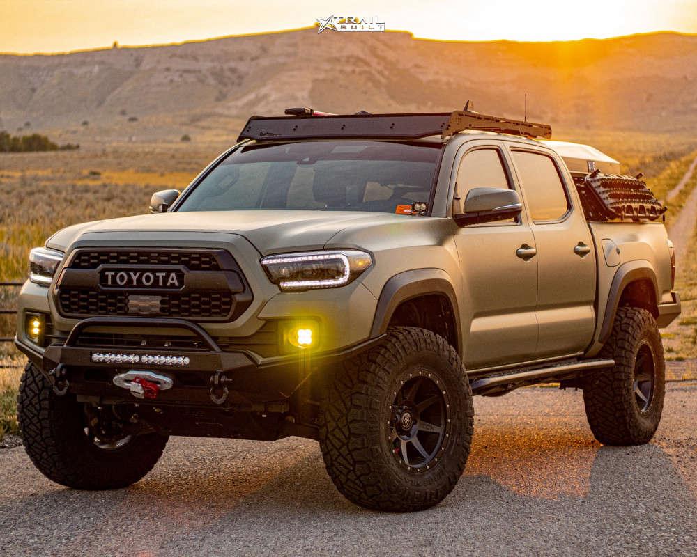 13 2018 Tacoma Toyota Rock Krawler Suspension Lift 25in Icon Alloys Rebound Black