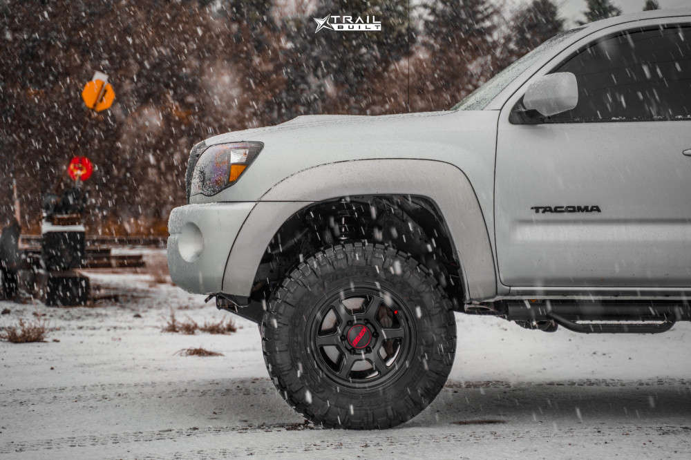 5 2008 Tacoma Toyota Rough Country Suspension Lift 3in Kansei Off Road Roku Black