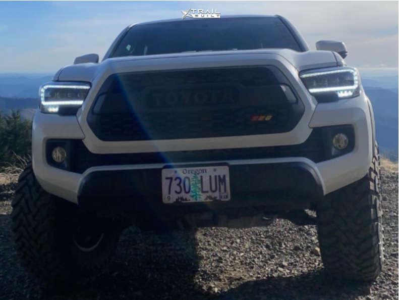 2 2016 Tacoma Toyota Bilstein Suspension Lift 3in Stealth Custom Series Ray 10 Gunmetal