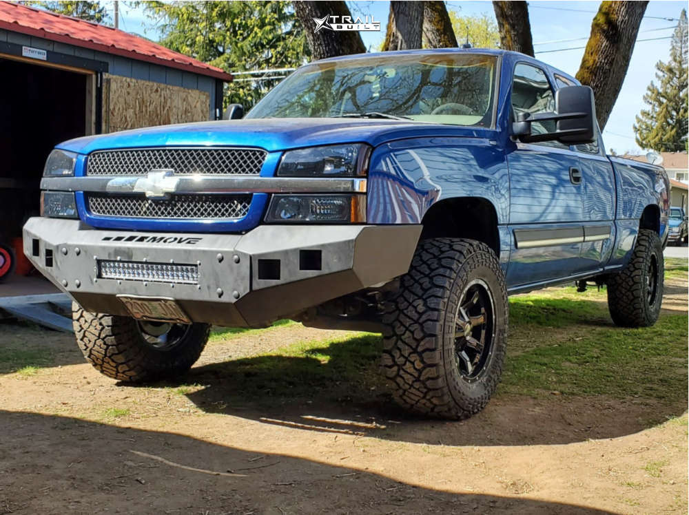 1 2003 Silverado 1500 Chevrolet Rough Country Suspension Lift 45in Moto Metal Mo970 Black