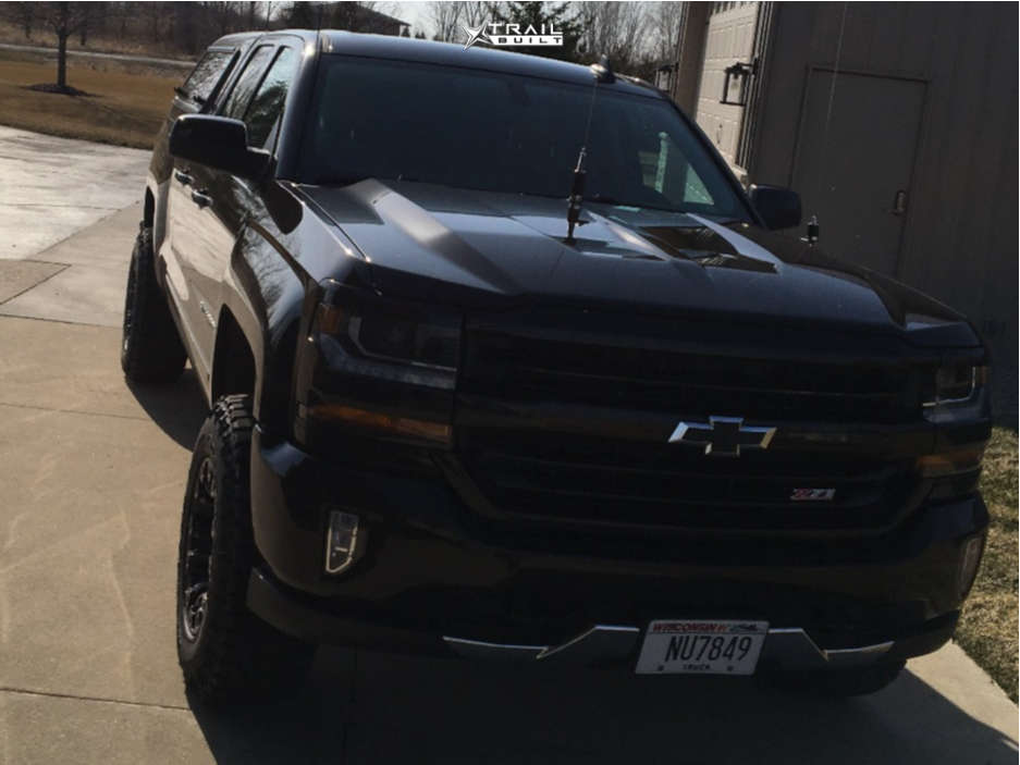 2 2018 Silverado 1500 Chevrolet 3 Inch Level Leveling Kit Fuel Vapor Black