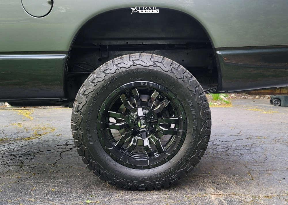 10 2005 Ram 1500 Dodge Skyjacker Suspension Lift 4in Fuel Sledge Machined Black