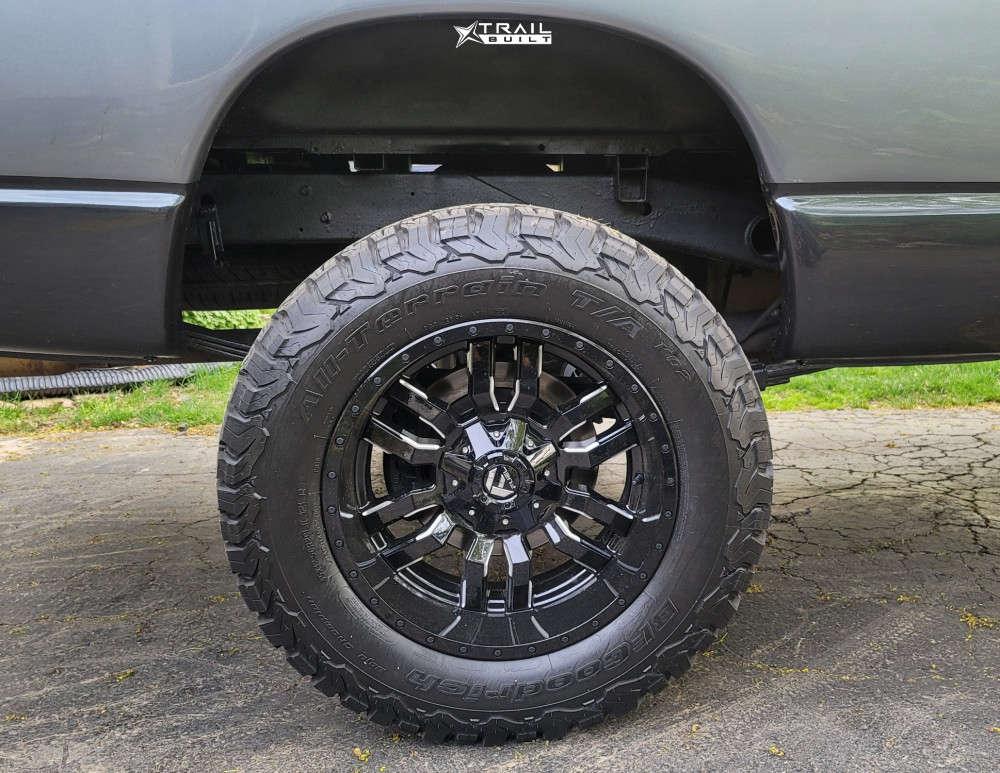 11 2005 Ram 1500 Dodge Skyjacker Suspension Lift 4in Fuel Sledge Machined Black