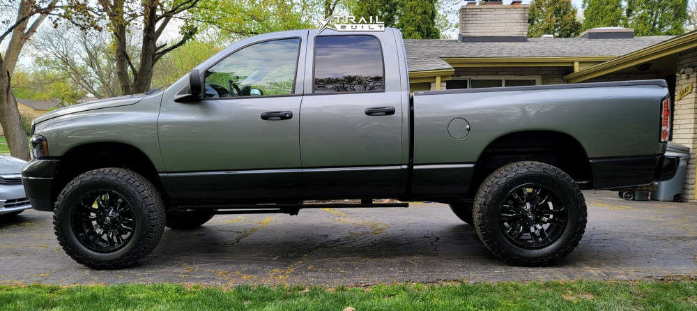 7 2005 Ram 1500 Dodge Skyjacker Suspension Lift 4in Fuel Sledge Machined Black
