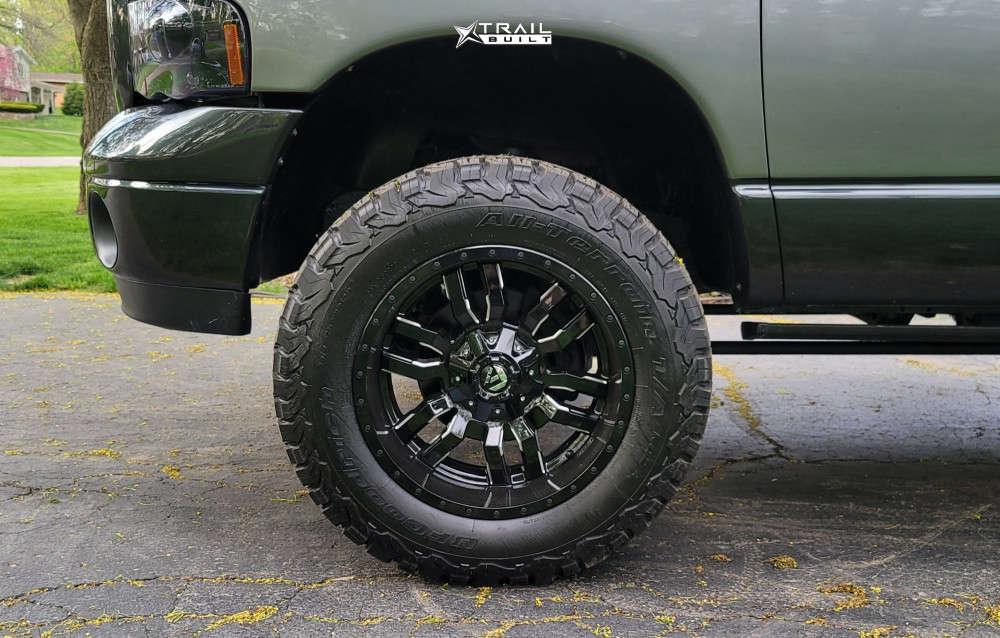 8 2005 Ram 1500 Dodge Skyjacker Suspension Lift 4in Fuel Sledge Machined Black