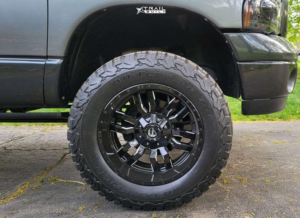 9 2005 Ram 1500 Dodge Skyjacker Suspension Lift 4in Fuel Sledge Machined Black
