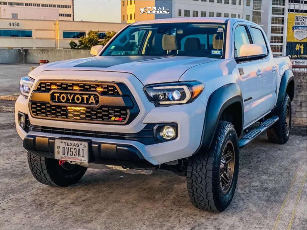 12 2020 Tacoma Toyota Bilstein Leveling Kit American Outlaw Lonestar Bronze