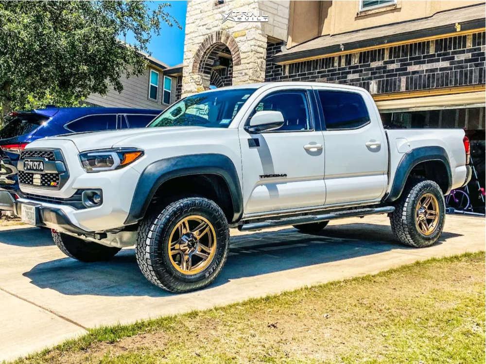 6 2020 Tacoma Toyota Bilstein Leveling Kit American Outlaw Lonestar Bronze