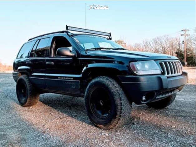 1 2004 Grand Cherokee Jeep Laredo Stock Air Suspension American Force Aero Sf Machined Black