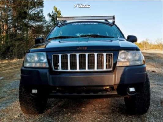2 2004 Grand Cherokee Jeep Laredo Stock Air Suspension American Force Aero Sf Machined Black