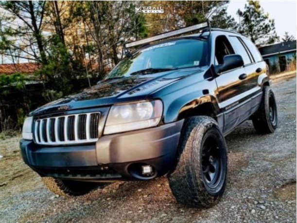 8 2004 Grand Cherokee Jeep Laredo Stock Air Suspension American Force Aero Sf Machined Black