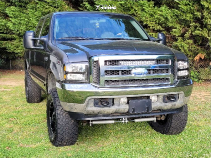 2 2002 F 250 Super Duty Ford Rough Country Leveling Kit Moto Metal Mo970 Black