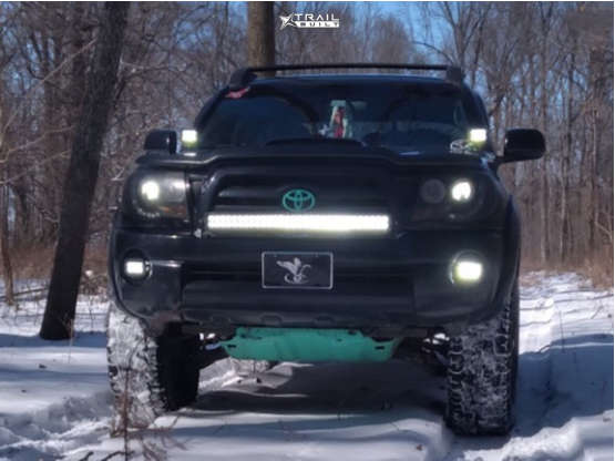 2 2007 Tacoma Toyota 3 Inch Level Suspension Lift 35in Vision Utech Machined Black