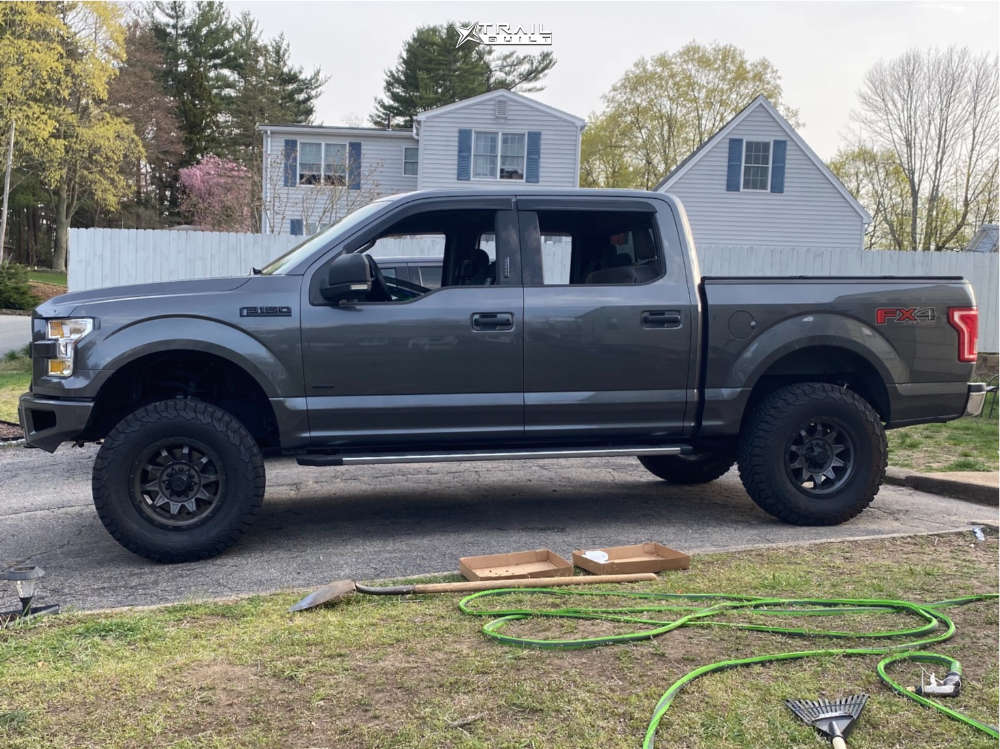 1 2016 F 150 Ford Rough Country Suspension Lift 6in Dirty Life Roadkill Gunmetal
